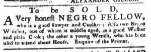 May 1 1770 - South-Carolina Gazette and Country Journal Slavery 7