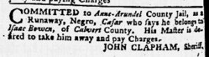 May 3 1770 - Maryland Gazette Slavery 1