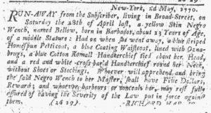 May 3 1770 - New-York Journal Slavery 1