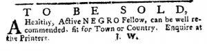 May 3 1770 - Pennsylvania Journal Supplement Slavery 1