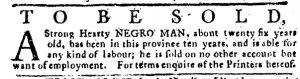 May 3 1770 - Pennsylvania Journal Supplement Slavery 2