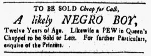 May 4 1770 - New-Hampshire Gazette Slavery 1