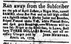 May 4 1770 - New-London Gazette Slavery 1