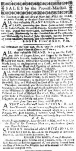 May 4 1770 - South-Carolina Gazette Slavery 1