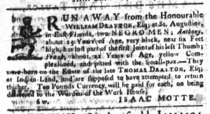 May 4 1770 - South-Carolina Gazette Slavery 10
