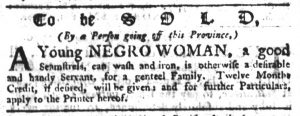 May 4 1770 - South-Carolina Gazette Slavery 14