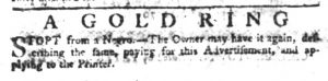 May 4 1770 - South-Carolina Gazette Slavery 5