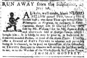 May 4 1770 - South-Carolina Gazette Slavery 9