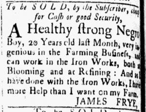 May 8 1770 - Essex Gazette Slavery 1