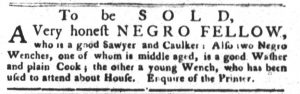 May 8 1770 - South-Carolina Gazette and Country Journal Supplement Slavery 4