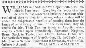 May 9 1770 - Georgia Gazette Slavery 2