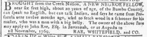 May 9 1770 - Georgia Gazette Slavery 4