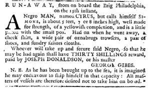 Nov 1 1770 - Pennsylvania Journal Slavery 2