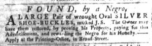 Nov 1 1770 - South-Carolina Gazette Slavery 2