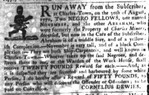 Nov 1 1770 - South-Carolina Gazette Slavery 3