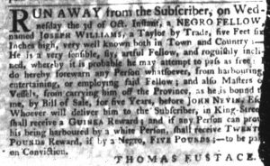 Nov 1 1770 - South-Carolina Gazette Slavery 4
