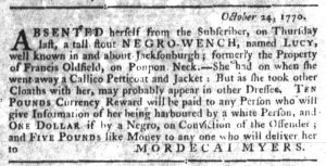 Nov 1 1770 - South-Carolina Gazette Slavery 8