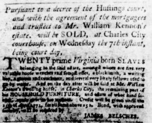 Nov 1 1770 - Virginia Gazette Purdie & Dixon Slavery 11