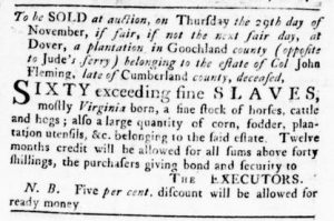 Nov 1 1770 - Virginia Gazette Rind Slavery 2