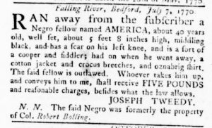 Nov 1 1770 - Virginia Gazette Rind Slavery 3