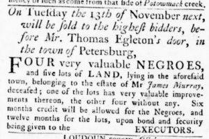 Nov 1 1770 - Virginia Gazette Rind Slavery 4