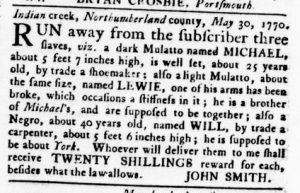 Nov 1 1770 - Virginia Gazette Rind Slavery 7