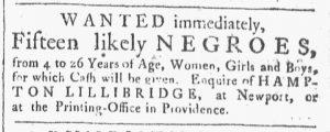 Nov 10 1770 - Providence Gazette Slavery 3