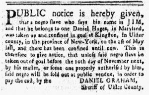 Nov 12 1770 - New-York Gazette and Weekly Mercury Slavery 2