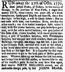 Nov 12 1770 - New-York Gazette and Weekly Mercury Slavery 3