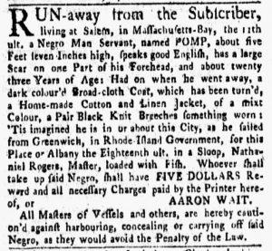 Nov 12 1770 - New-York Gazette and Weekly Mercury Slavery 4