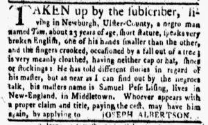 Nov 12 1770 - New-York Gazette and Weekly Mercury Slavery 5