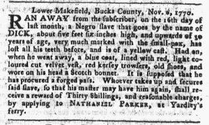 Nov 12 1770 - Pennsylvania Chronicle Slavery 1
