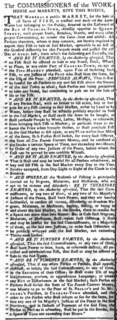 Nov 13 1770 - South-Carolina Gazette and Country Journal Continuation Slavery 2