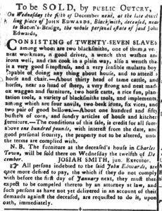 Nov 13 1770 - South-Carolina Gazette and Country Journal Continuation Slavery 4