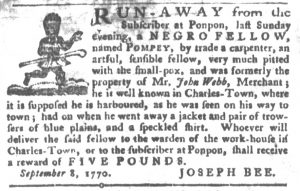 Nov 13 1770 - South-Carolina Gazette and Country Journal Supplement Slavery 2