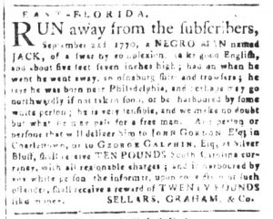 Nov 13 1770 - South-Carolina and American General Gazette Slavery 10