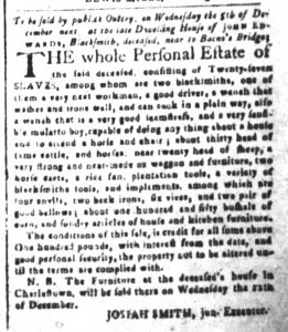Nov 13 1770 - South-Carolina and American General Gazette Slavery 2