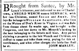 Nov 13 1770 - South-Carolina and American General Gazette Slavery 8