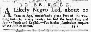 Nov 15 1770 - New-York Journal Slavery 1