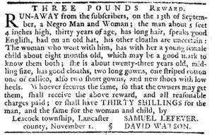 Nov 15 1770 - Pennsylvania Journal Slavery 3
