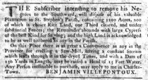 Nov 15 1770 - South-Carolina Gazette Slavery 10