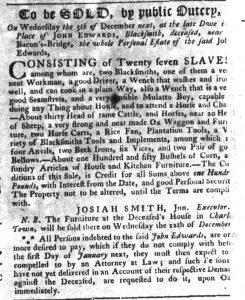 Nov 15 1770 - South-Carolina Gazette Slavery 3
