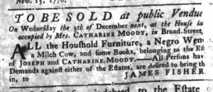 Nov 15 1770 - South-Carolina Gazette Slavery 5