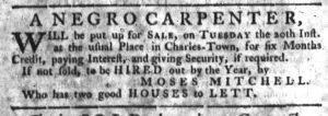 Nov 15 1770 - South-Carolina Gazette Slavery 8