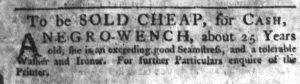Nov 15 1770 - South-Carolina Gazette Slavery 9