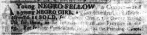 Nov 15 1770 - South-Carolina Gazette Supplement Slavery 1