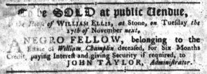 Nov 15 1770 - South-Carolina Gazette Supplement Slavery 3