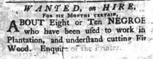 Nov 15 1770 - South-Carolina Gazette Supplement Slavery 5