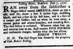 Nov 15 1770 - Virginia Gazette Rind Slavery 7