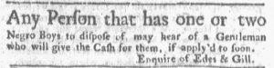 Nov 19 1770 - Boston-Gazette Slavery 1